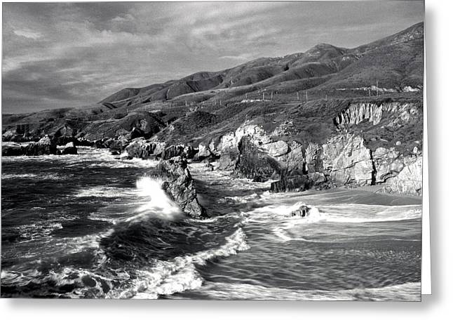 Big Sir California Greeting Cards - Garrapata Beach Big Sir Greeting Card by Dan Peak