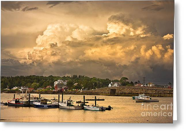 Best Sellers -  - Summer Storm Greeting Cards - Garrison Cove Thunderstorm Greeting Card by Benjamin Williamson