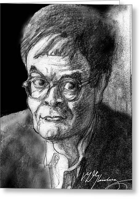 Small Towns Mixed Media Greeting Cards - Garrison Keillor an American Treasure Greeting Card by Dean Gleisberg