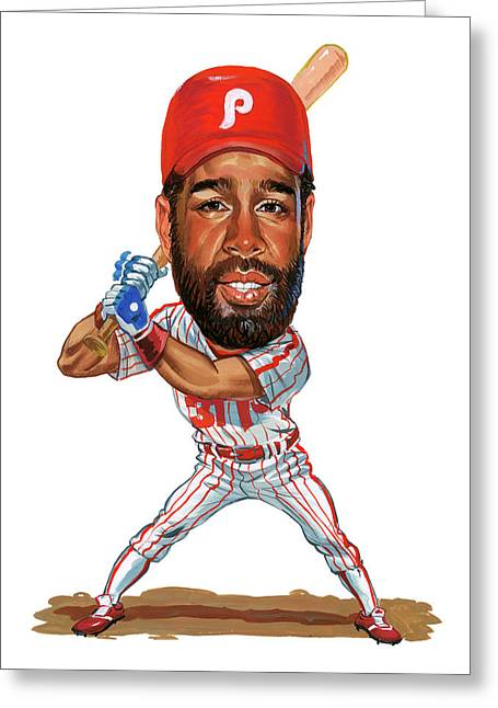 Mlb.com Greeting Cards - Garry Maddox Greeting Card by Art