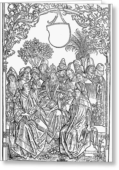 1485 Greeting Cards - Gart Der Gesuntheit, 1485 Greeting Card by Granger