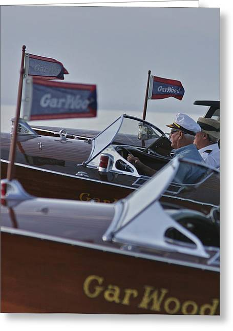 Mahogany Greeting Cards - GarWood Runabouts Greeting Card by Steven Lapkin