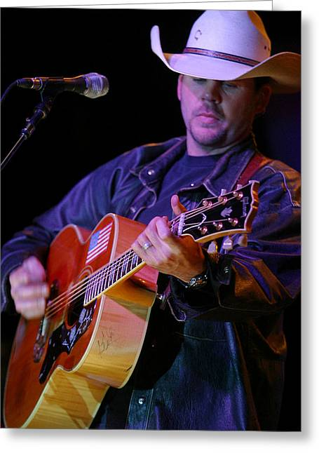 Gary Allan Greeting Card by Don Olea