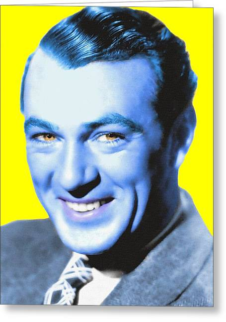 First Plane Greeting Cards - Gary Cooper Greeting Card by Art Cinema Gallery