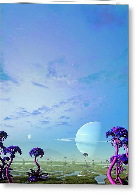 Gas Giant Planet 55 Cancri F Greeting Card by Mark Garlick
