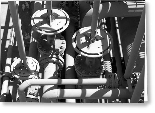 Gas Plant Workings Greeting Card by Art Block Collections