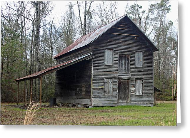 Old House Photographs Greeting Cards - Gaskins Family Tenant House - Gallivants Ferry II Greeting Card by Suzanne Gaff