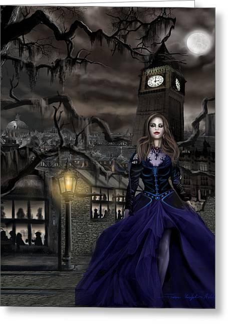 Harem Girl Greeting Cards - Drucilla - Gaslight Fantasia Cover Darkhair Greeting Card by James Christopher Hill