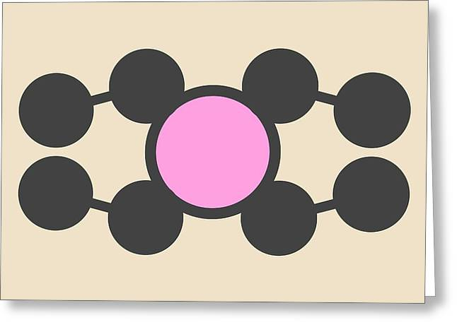 Gasoline Octane Booster Molecule Greeting Card by Molekuul