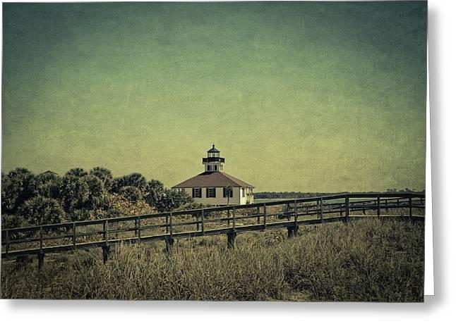 Boca Grande Greeting Cards - Gasparilla Island Lighthouse Greeting Card by Kim Hojnacki