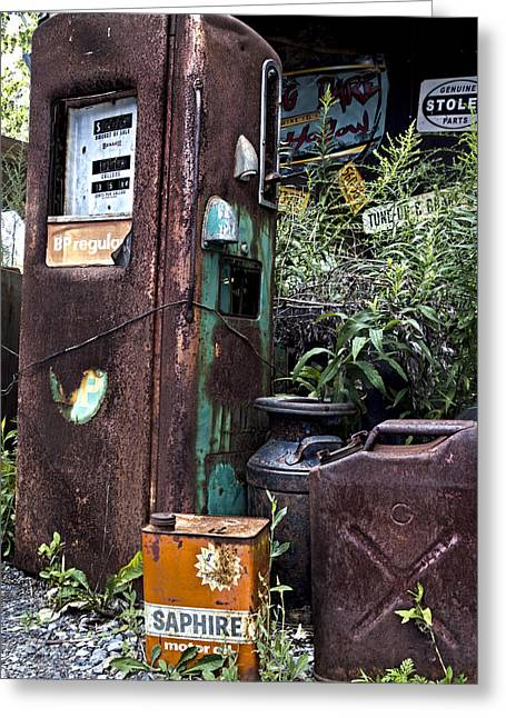 Rust Greeting Cards - Gassed Greeting Card by Peter Chilelli