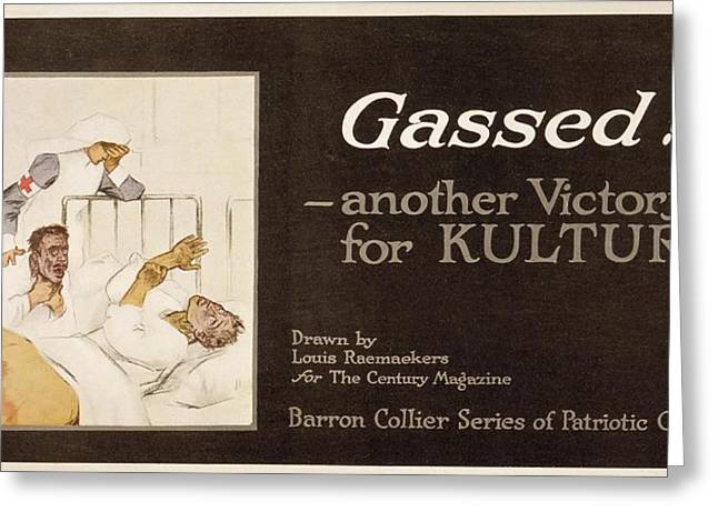 Gassed! World War I Cartoon Greeting Card by Library Of Congress