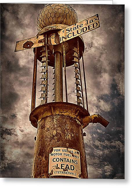 Gassing Up In Jerome Greeting Card by Priscilla Burgers
