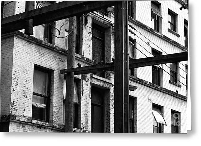 Steal Posters Greeting Cards - Gastown Angles Greeting Card by John Rizzuto