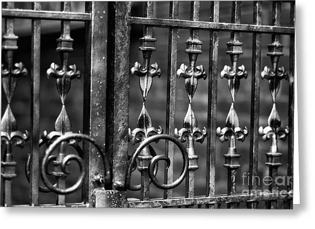 Steal Posters Greeting Cards - Gastown Wrought Iron Greeting Card by John Rizzuto