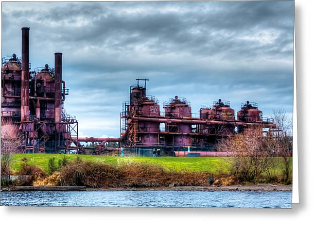 Lake Union Greeting Cards - Gasworks Park in Seattle Washington Greeting Card by David Patterson