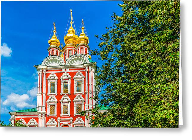 Medieval Temple Greeting Cards - Gate church of the Transfiguration Greeting Card by Alexander Senin