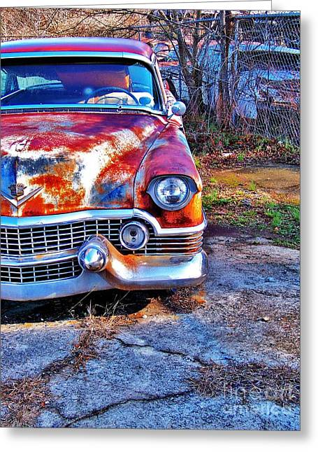 Truck Grill. Fence Greeting Cards - Gate Keeper Greeting Card by Chuck  Hicks