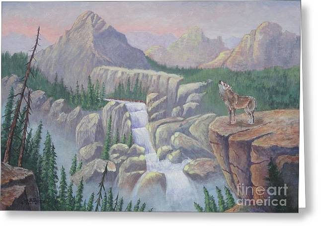Ledge Drawings Greeting Cards - Gate Keeper of the Canyon Greeting Card by Bob Williams