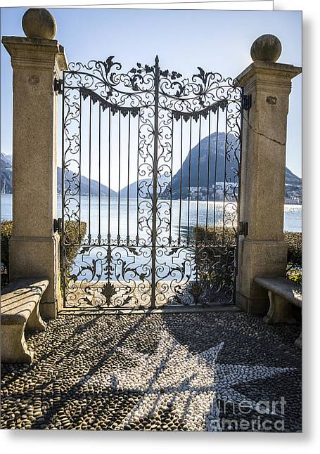 Ticino Greeting Cards - Gate to Heaven Greeting Card by Ning Mosberger-Tang