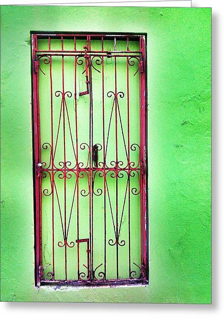 Old San Juan Greeting Cards - Gate to nowhere Greeting Card by Olivier Calas
