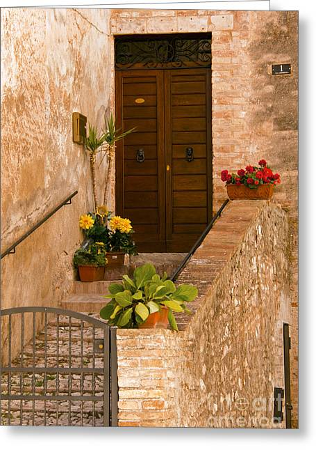 Stepping Stones Greeting Cards - Gated Entrance   Greeting Card by Bob Phillips