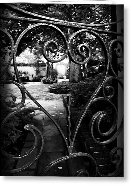 Kelly Greeting Cards - Gated Heart Greeting Card by Kelly Hazel