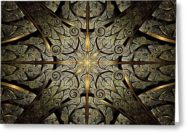 Entrance Door Mixed Media Greeting Cards - Gates of Creation Greeting Card by Anastasiya Malakhova