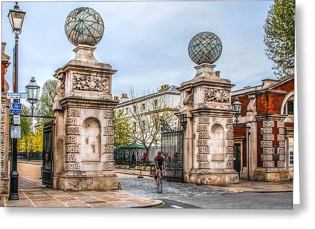 Royal Naval College Greeting Cards - Gates of the Old Royal Naval College Greeting Card by Ross Henton