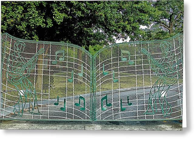 Tennessee Landmark Greeting Cards - Gates to Graceland Greeting Card by Mountain Dreams