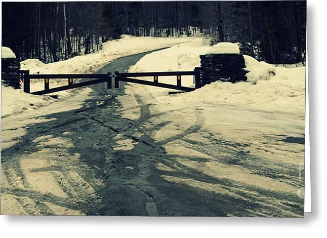 Ski Art Photographs Greeting Cards - Gates to Wonderland Greeting Card by Patricia Awapara