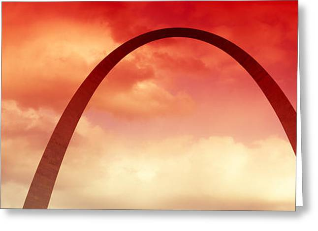 Gateway Arch Greeting Cards - Gateway Arch At Sunset, St. Louis Greeting Card by Panoramic Images