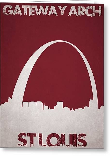 City Buildings Greeting Cards - Gateway Arch Greeting Card by Joe Hamilton