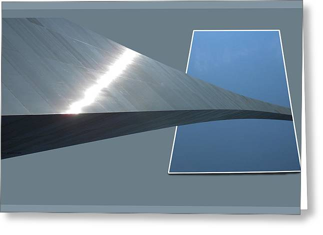 Bounded Area Digital Art Greeting Cards - Gateway Arch St Louis 07 Greeting Card by Thomas Woolworth