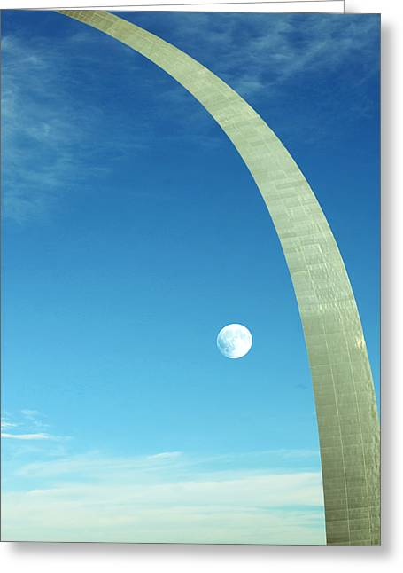 Gateway Arch Greeting Card by Steven  Michael