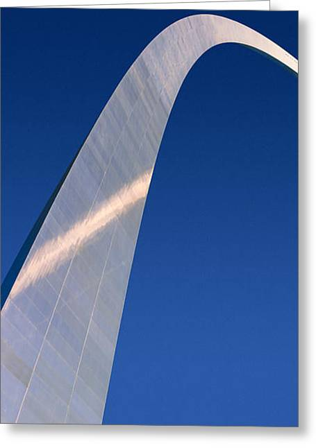 Gateway Arch Greeting Cards - Gateway Arch With Buildings Greeting Card by Panoramic Images