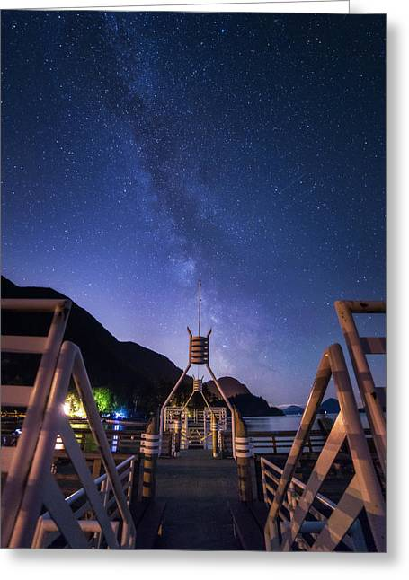Porteau Cove Provincial Park Greeting Cards - Gateway Greeting Card by Bun Lee