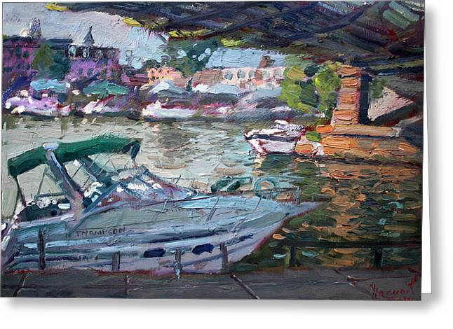 Gateway Harbor North Tonawanda Greeting Card by Ylli Haruni