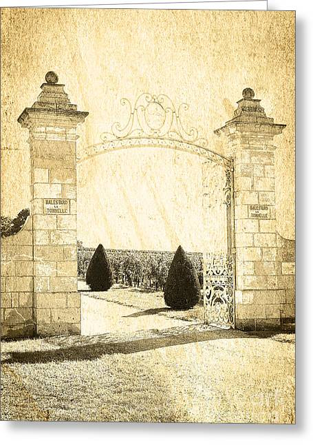 Entrance Door Greeting Cards - Gateway Into The Garden Greeting Card by Heiko Koehrer-Wagner