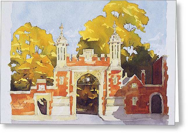 Seventeenth Greeting Cards - Gateway  Lincolns Inn Greeting Card by Annabel Wilson