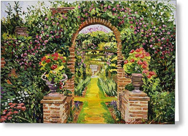Vines Greeting Cards - Gateway Of Brick Greeting Card by David Lloyd Glover