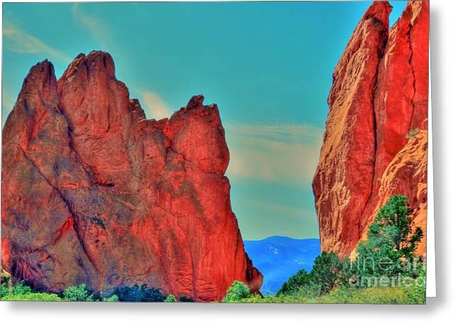 Gateway Rock Greeting Card by Kathleen Struckle