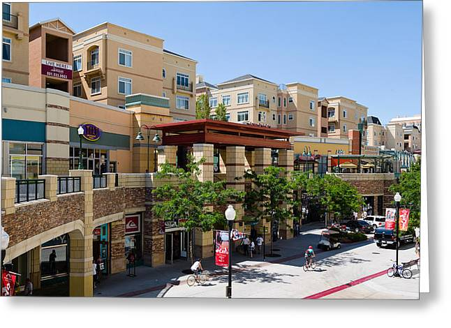 Town Square Greeting Cards - Gateway Shopping Center, Downtown Salt Greeting Card by Panoramic Images