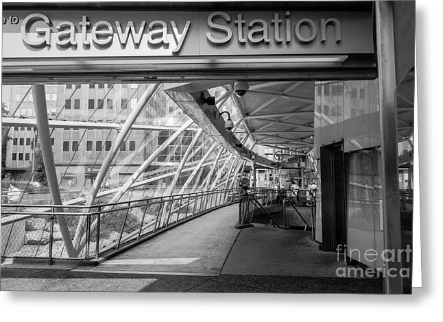 Transit Greeting Cards - Gateway T Station  Pittsburgh Greeting Card by Amy Cicconi
