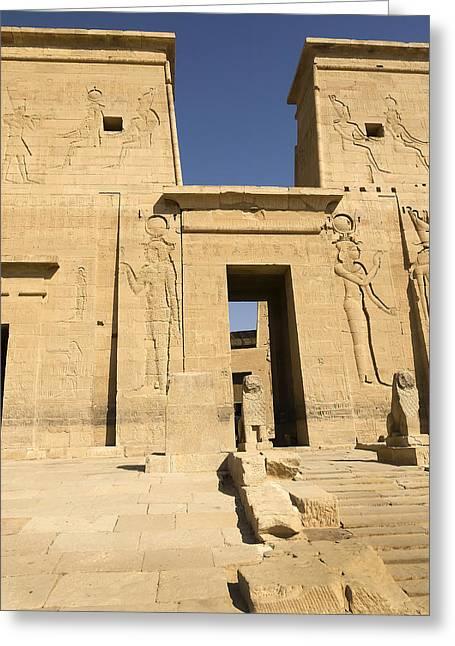 Hathor Greeting Cards - Gateway to Eternal Life Greeting Card by Brenda Kean