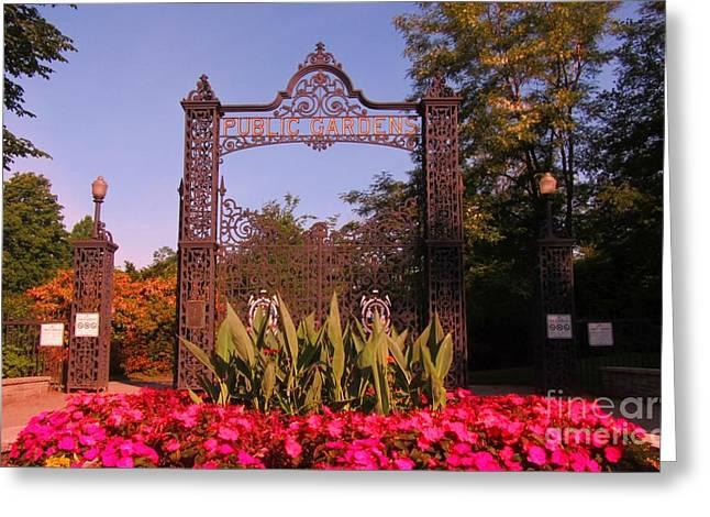 Halifax Photographs Greeting Cards - Gateway to Halifax Public Gardens Greeting Card by John Malone