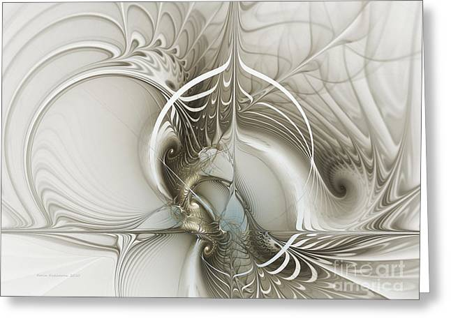 Geometrical Greeting Cards - Gateway to Heaven-Fractal Art Greeting Card by Karin Kuhlmann