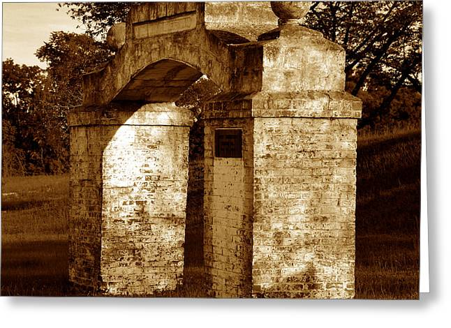 Historic Cemetery Greeting Cards - Gateway to the afterlife Greeting Card by David Lee Thompson