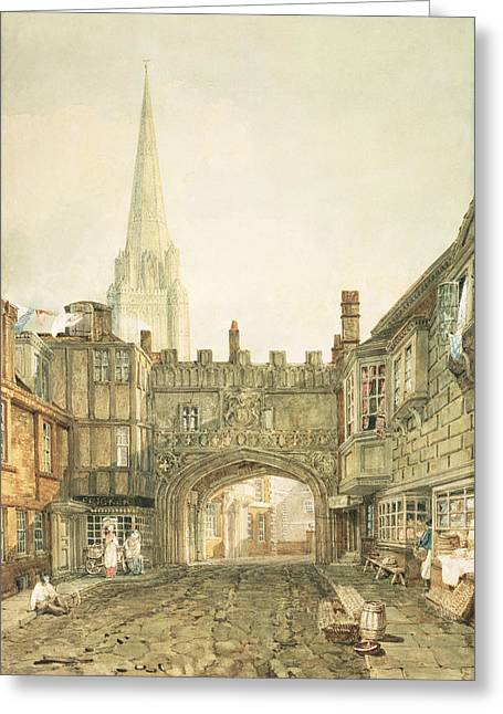 45 Greeting Cards - Gateway To The Close, Salisbury Greeting Card by Joseph Mallord William Turner