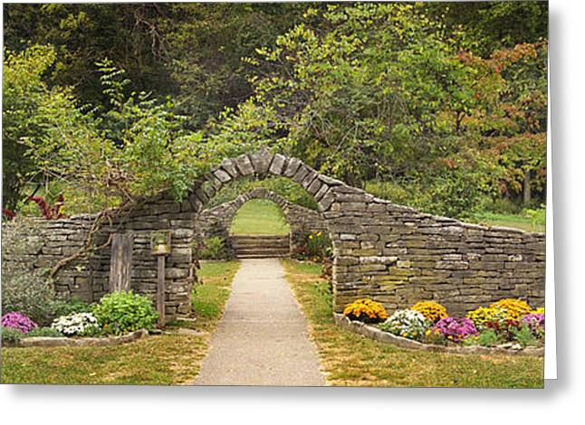 Indiana Flowers Greeting Cards - Gateway to the Garden Greeting Card by Wendell Thompson